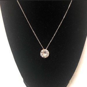 Jewelry - Diamond Round CZ Solitaire Necklace & Earrings